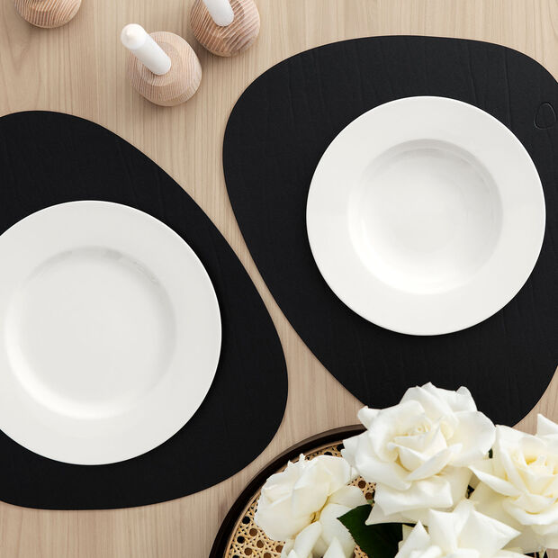 Twist White plate set, 12 pieces, for 6 people, , large