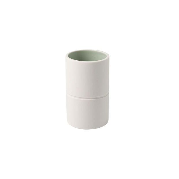 it's my home small vase, 6 x 10 cm, green/white, , large