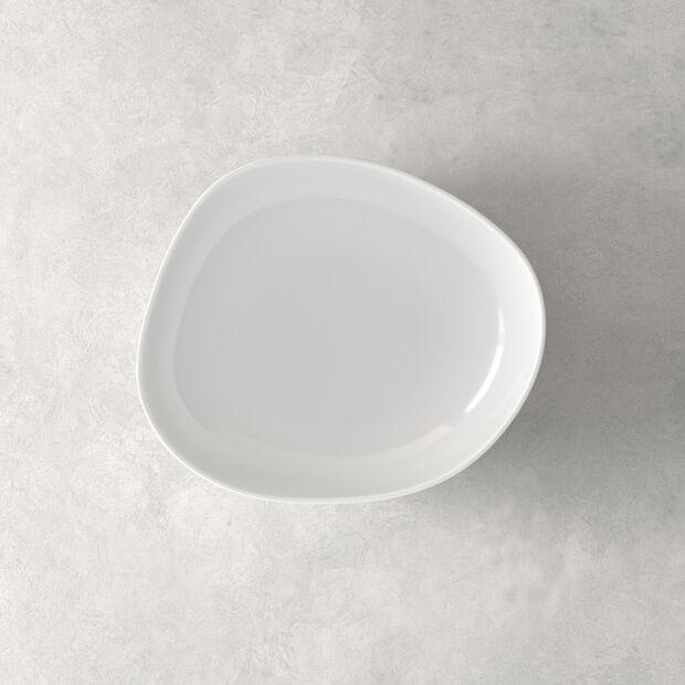 Organic White Deep plate 20 x 18 x 5,5cm, , large
