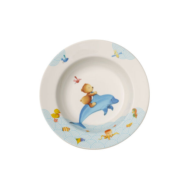 Happy as a Bear Children deep plate 195mm, , large