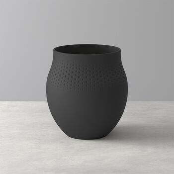 Manufacture Collier noir Vase Perle large 16,5x16,5x17,5cm