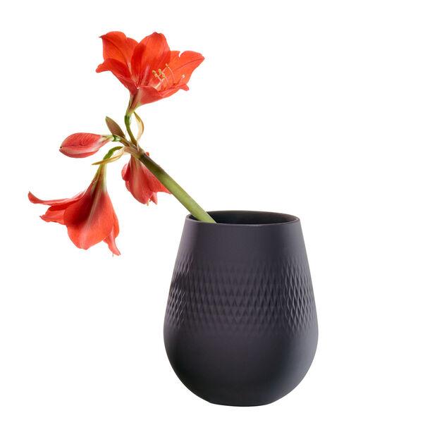 Manufacture Collier noir Vase Carré small 12,5x12,5x14cm, , large
