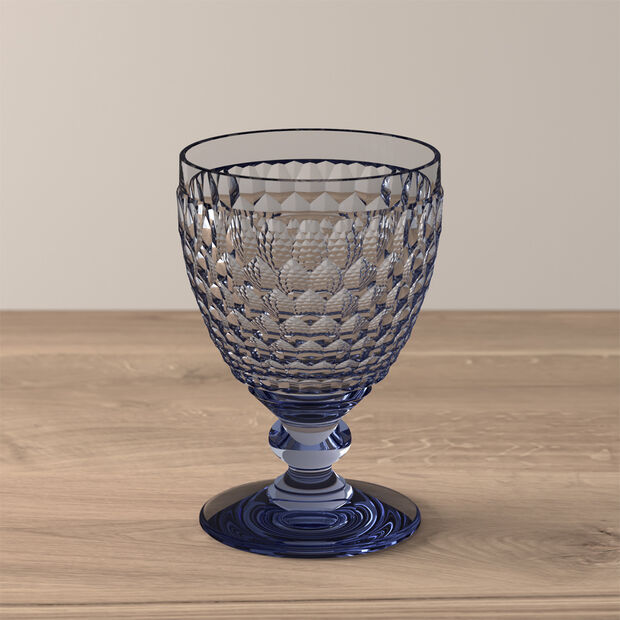 Boston Coloured Red wine glass Blue, , large
