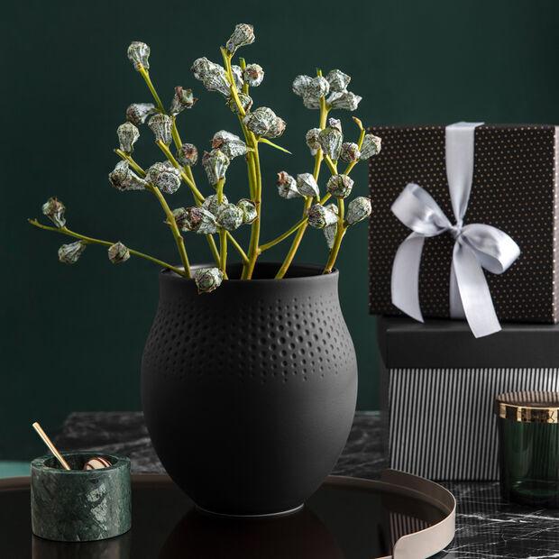 Manufacture Collier noir Vase Perle large 16,5x16,5x17,5cm, , large
