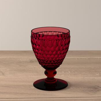 Boston Coloured White wine glass Red