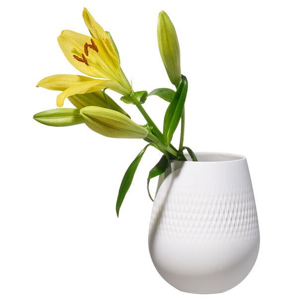 Manufacture Collier blanc Vase Carré small 12,5x12,5x14cm, , large
