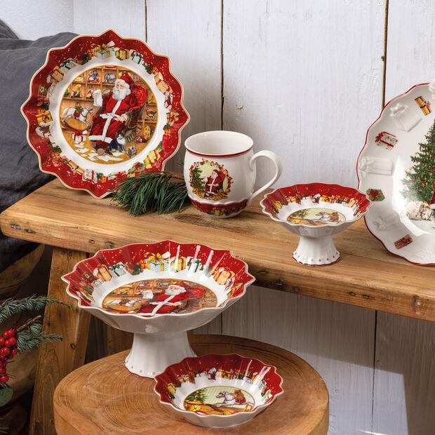 Toy's Fantasy Bowl large, Santa reads wish list 25x25x4cm, , large