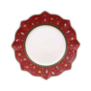 Toy's Delight red dinner plate