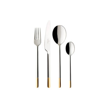 Ella partially gold-plated table cutlery 24 pieces 42 x 27 x 5 cm
