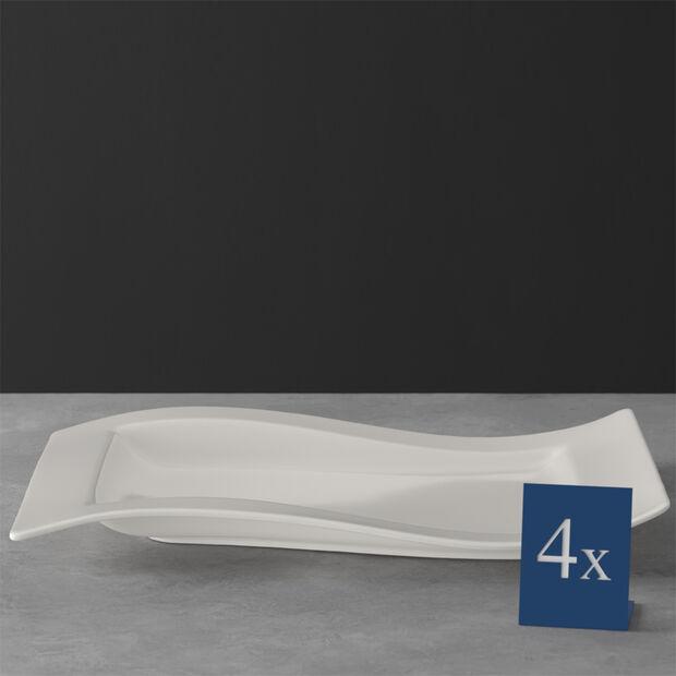 NewWave gourmet plate set 4 pieces 37 x 25 cm, , large