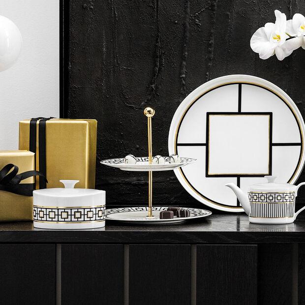 MetroChic etagere, 27.5 x 27.5 x 27 cm, white/black/gold, , large