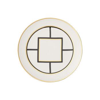 MetroChic dessert/breakfast plate, 22 cm diameter, white/black/gold