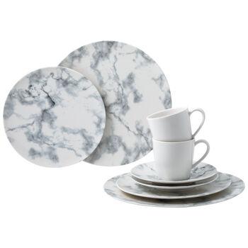 Marmory combination set White, white, 8 pieces
