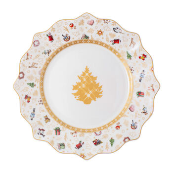 Toy's Delight breakfast plate, anniversary edition, multicoloured/gold/white