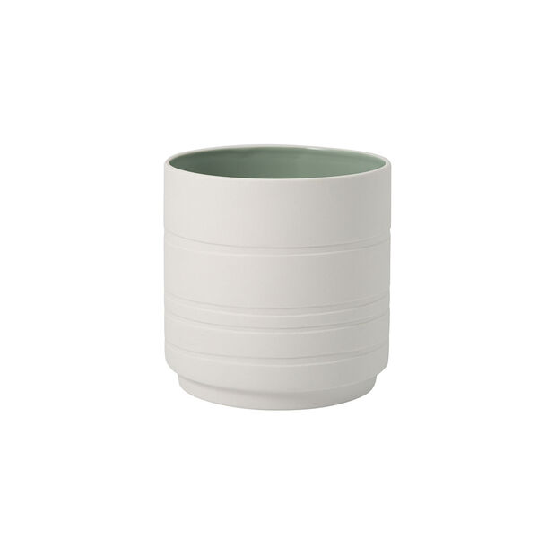 it's my home flowerpot Leaf, green/white, , large