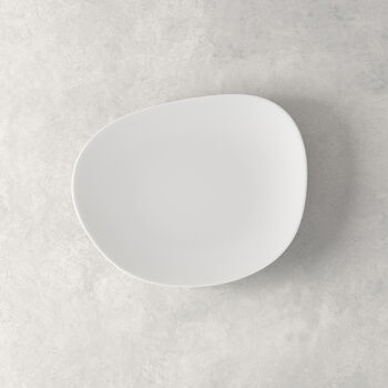 Organic White breakfast plate 21 x 17 x 2cm