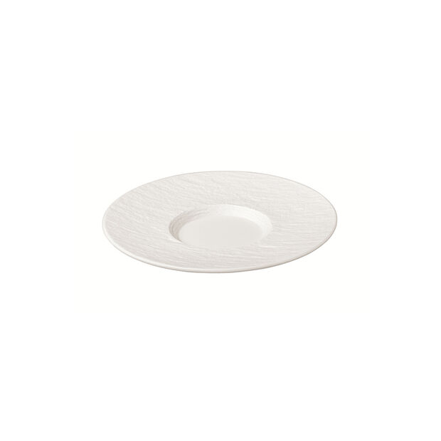 Manufacture Rock Blanc coffee cup saucer, white, 15.5 x 15.5 x 2 cm, , large