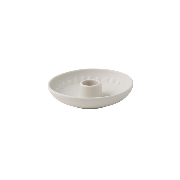 it's my home candle holder Blossom, 12 x 3 cm, white, , large