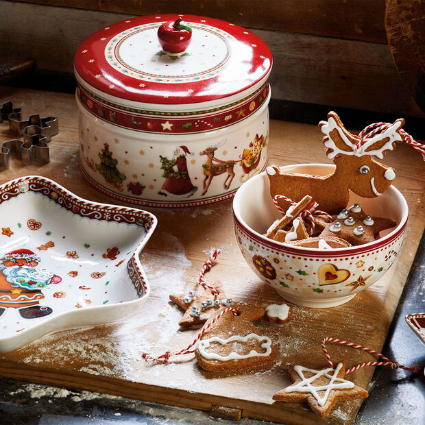 Winter Bakery Delight large biscuit jar, , large