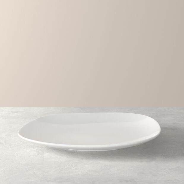 Organic White dinner plate 28 x 24 x 3cm, , large