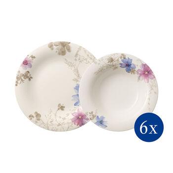 Mariefleur Gris Basic plate set 12 pieces