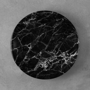 Marmory dinner plate black 27x27x1,5cm