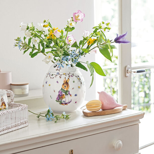 Spring Fantasy egg-shaped vase Emma and Paul, 21 cm, multicoloured, , large