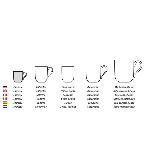 Artesano Flower Art mocha/espresso cup, , large