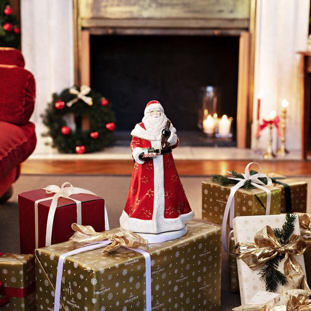 Christmas Toy's Memory Santa rotating, multicoloured, 17.5 x 20 x 34 cm, , large