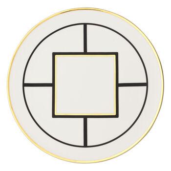 MetroChic underplate/cake plate, 33 cm diameter, white/black/gold