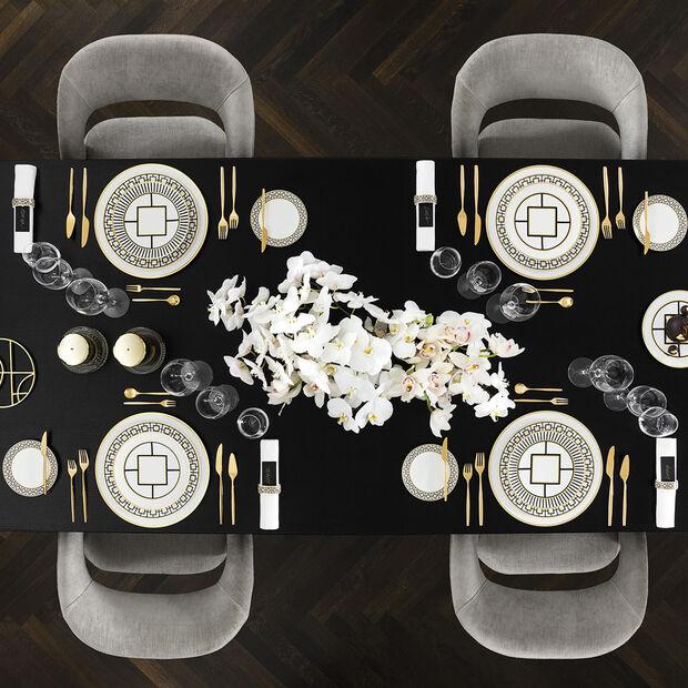 MetroChic soup plate, 20 cm diameter, 5 cm deep, white/black/gold, , large