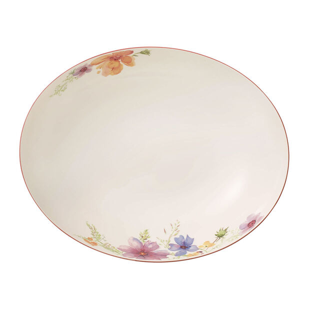 Mariefleur Basic oval serving bowl 32 cm, , large