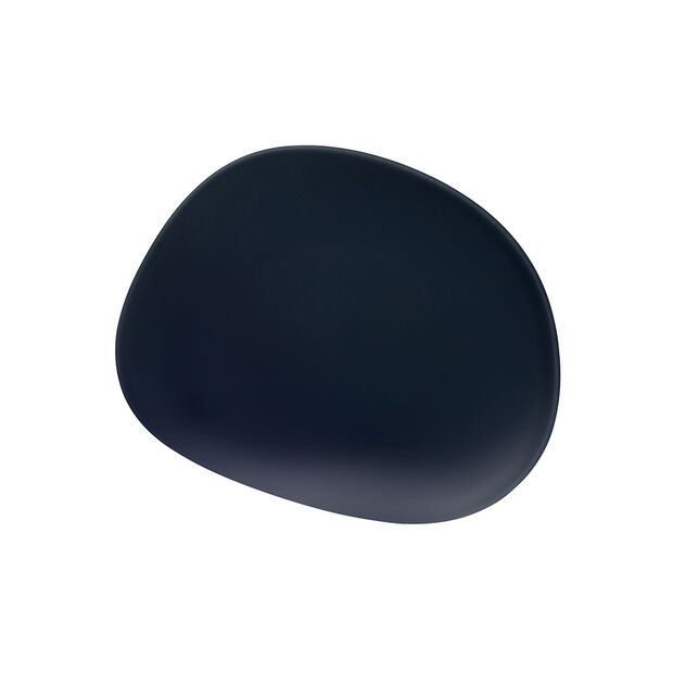 Organic Dark Blue breakfast plate, dark blue, 21 cm, , large
