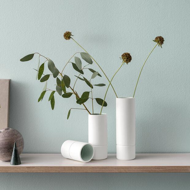 it's my home medium vase, 6 x 15 cm, green/white, , large