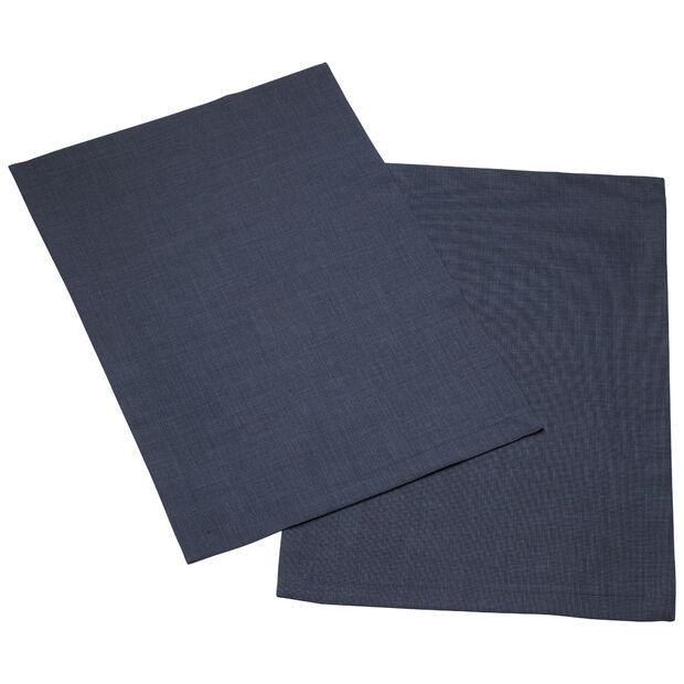 Textil Uni TREND Placemat vintage blue Set 2 35x50cm, , large