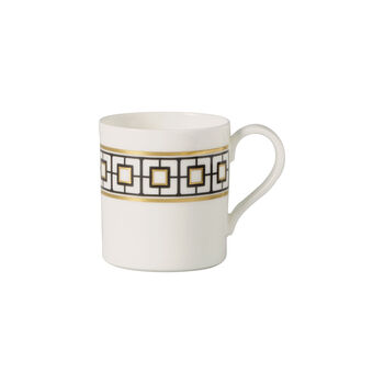 MetroChic coffee cup, 210 ml, white/black/gold