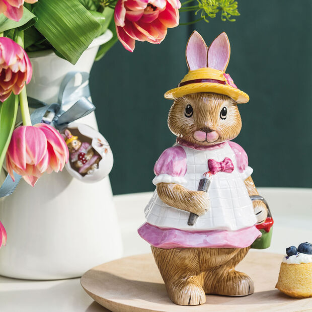 Bunny Tales large figurine Anna, 10.5 x 11 x 22 cm, rose/brown, , large
