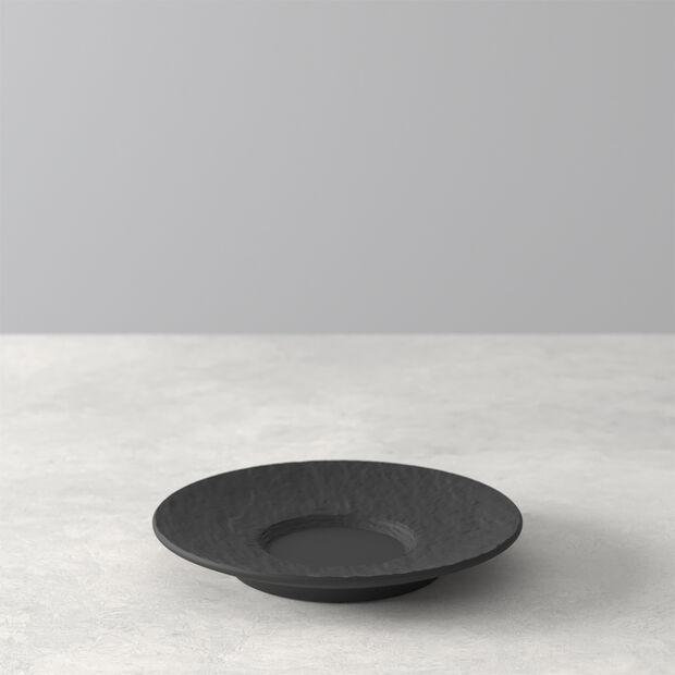 Manufacture Rock espresso cup saucer, black/grey, 12 x 12 x 2 cm, , large