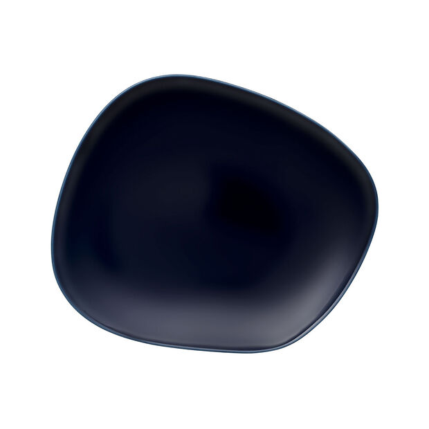 Organic Dark Blue dinner plate 28 x 24 x 3cm, , large
