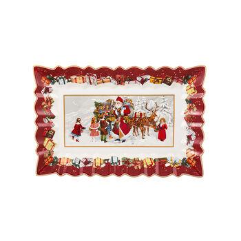 Toy's Fantasy Cake plate rect., Santa & Kids 35x23x3,5cm