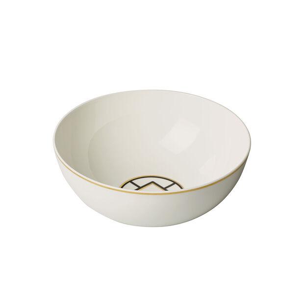 MetroChic round bowl, 23 cm diameter, white/black/gold, , large