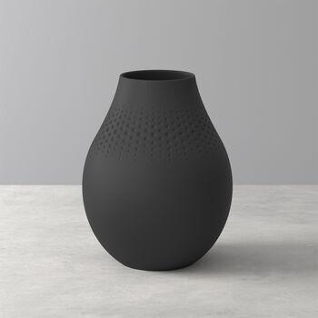 Manufacture Collier noir Vase Perle tall 16x16x20cm