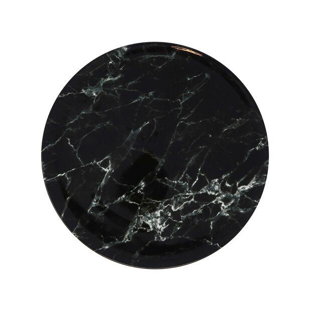 Marmory dinner plate black 27x27x1,5cm, , large
