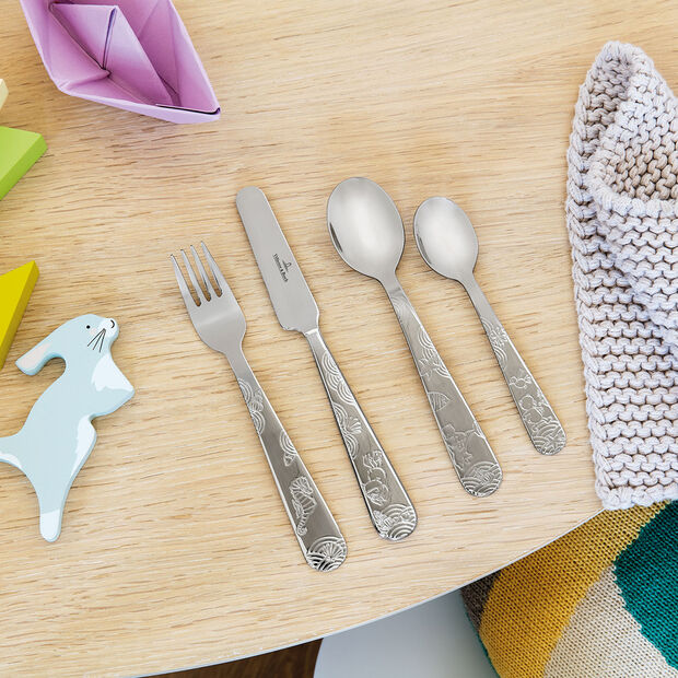 Happy as a Bear children's 4-piece cutlery set, , large