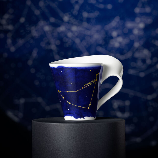 NewWave Stars mug Capricorn, 300 ml, blue/white, , large