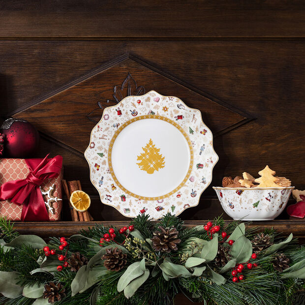 Toy's Delight breakfast plate, anniversary edition, multicoloured/gold/white, , large