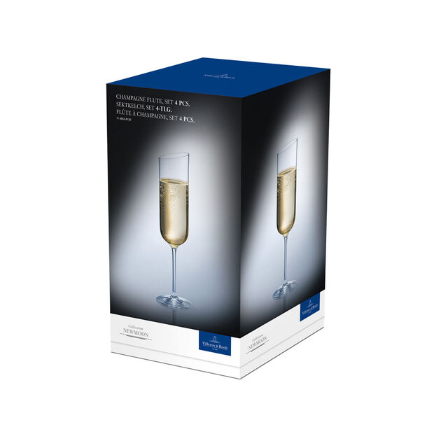 NewMoon champagne glass set, 170 ml, 4 pieces, , large