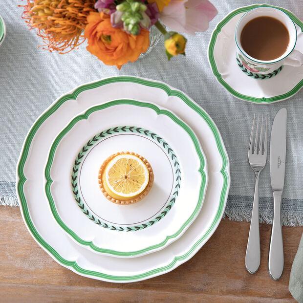 French Garden Green Line dinner plate, , large