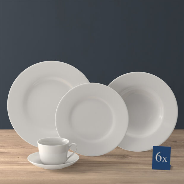 Twist White crockery set, 30 pieces, for 6 people, , large