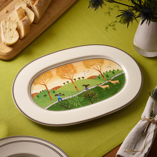 Design Naif oval plate 34 cm, , large